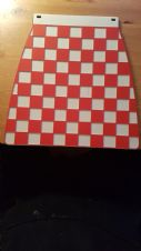 OLD SKOOL CHECK MUDFLAP (RED AND WHITE)